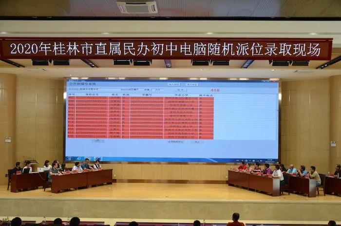 刚刚公布!桂林市属民办初中集中摇号录取2367人
