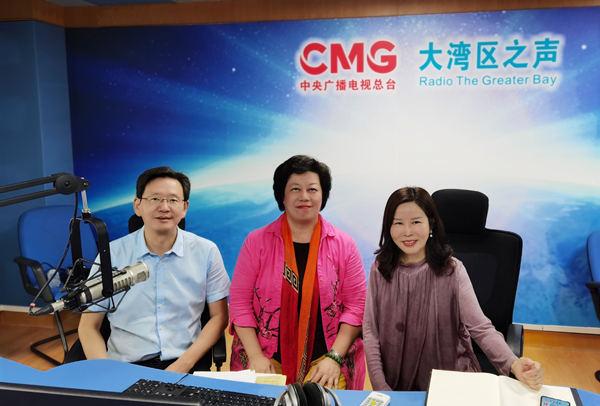 李建辉牛立志接受中央广播电视总台大湾区之声采访