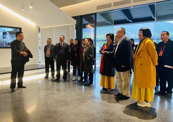 国际信息发展组织参观林风眠纪念堂与瑞山生态旅游区