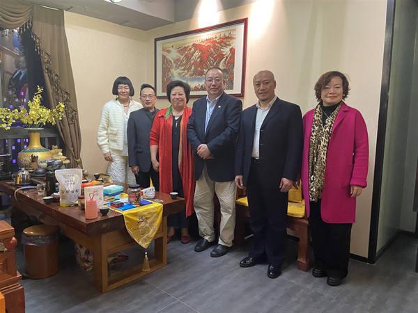国际信息发展组织一行走访岭南电商园、禹龙投资等爱心企业