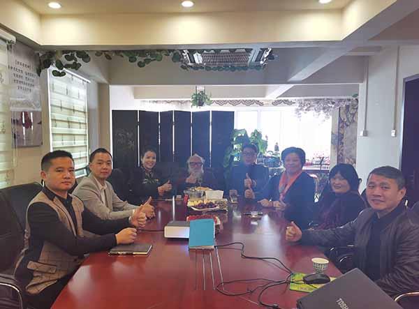 国际著名养生学家朱鹤亭参观广州百翠园并作灵芝分享