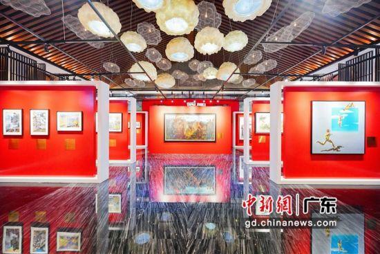 一批艺术名家作品亮相广东惠州罗浮山